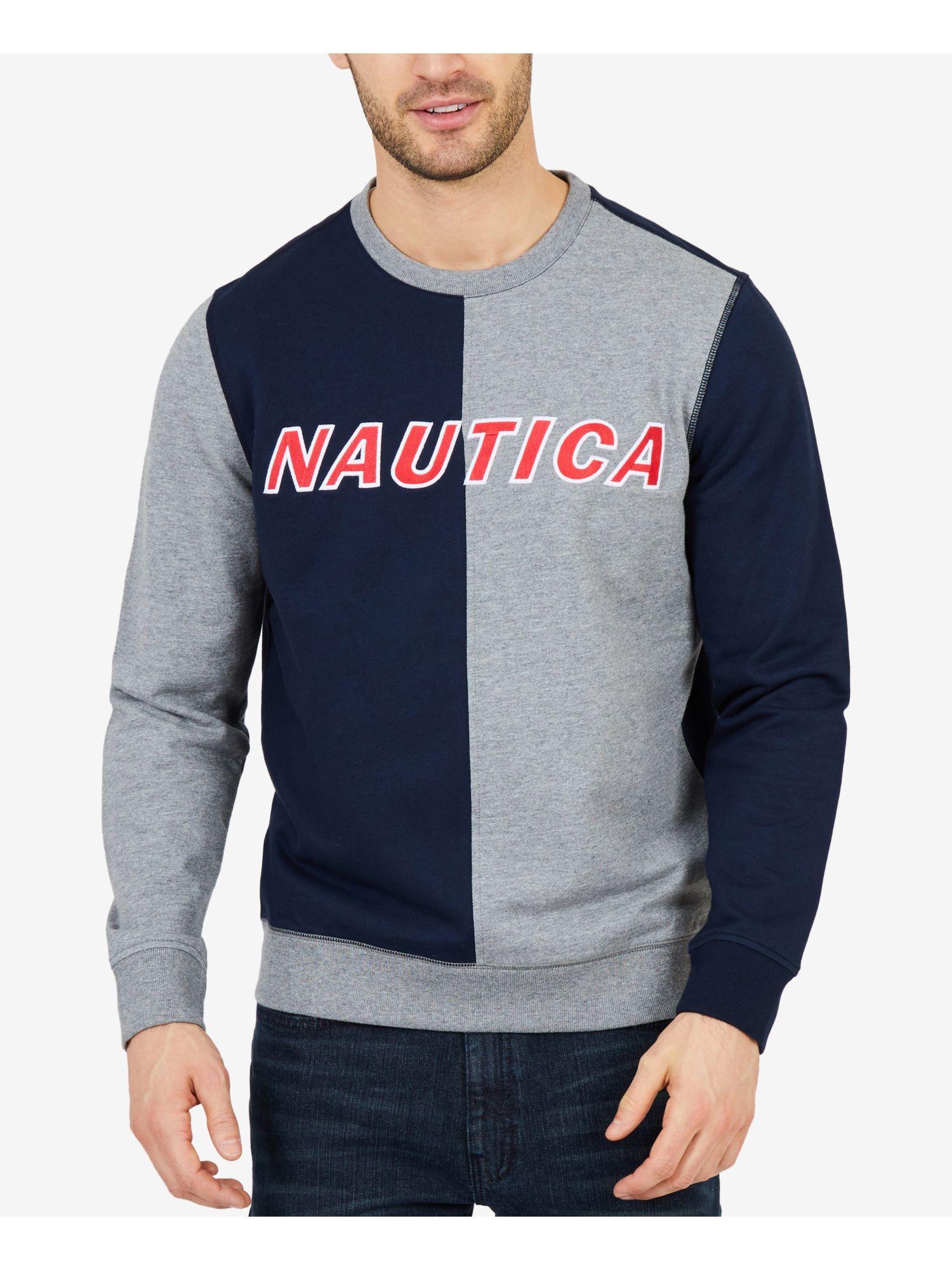 Nautica Mens Colorblocked Lounge Pants Blue Black Mens Size Large New